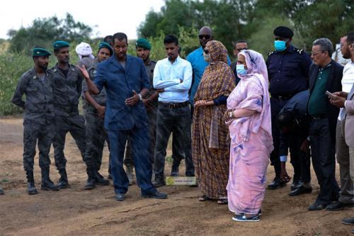 Madame la Ministre effectue une visite d'information au Parc National d'Awleigat