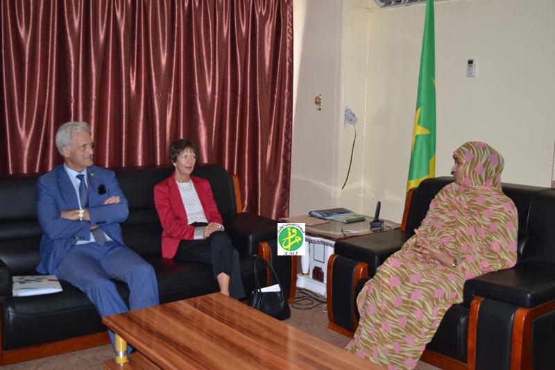Ami la ministre du commerce re oit une mission allemande for Chambre de commerce mauritanie